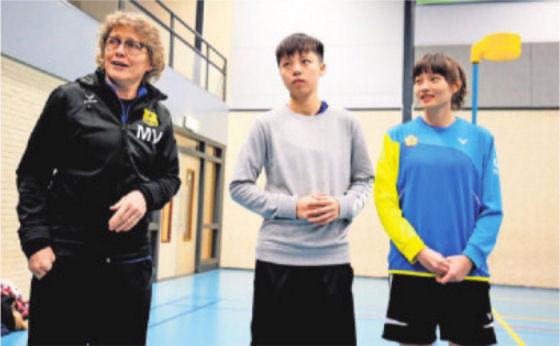 Mariska, Wen en Winnie in het AD