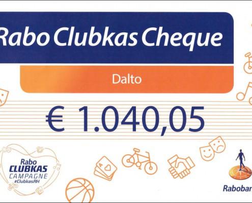 Rabo-clubkas Cheque voor Dalto