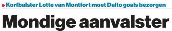 20190906 AD Interview Daltospeelster Lotte Van Montfort Koptekst