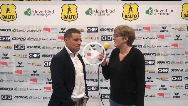 Interview Hugo van Woudenberg voor de wedstrijd Dalto-ODIK