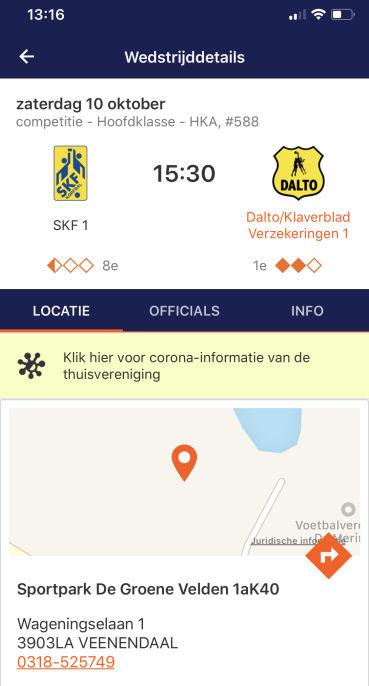 KNKV App Wedstrijddetails Dalto